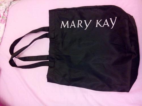 Bolsa Dourada Mary Kay : Mary kay bag bolsa sacola tecido preta nova r em