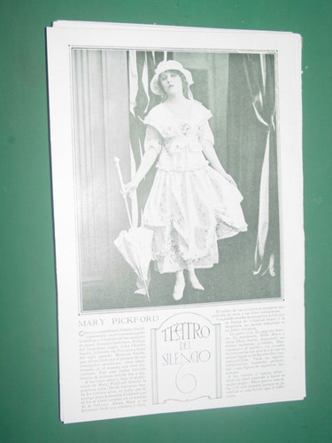 mary pickford clipping recorte actriz teatro antiguo
