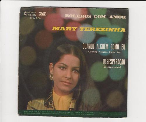mary terezinha - boleros com amor 1970 -  compacto - ep13