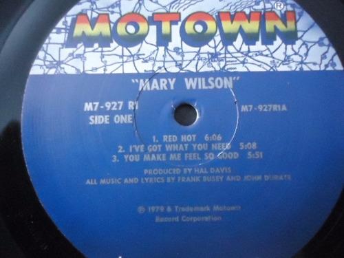 mary wilson / mary wilson vinyl lp acetato