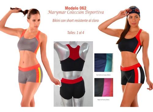 marymar malla bikini con short natacion deportiva repele al cloro