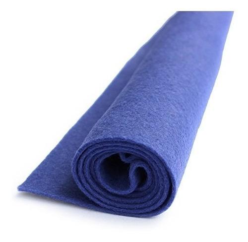 más azul que azul fieltro de lana hoja de gran tamaño mezc