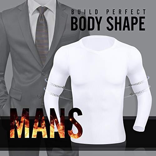 mas caliente camisa de compresion para hombre delgada y ajus