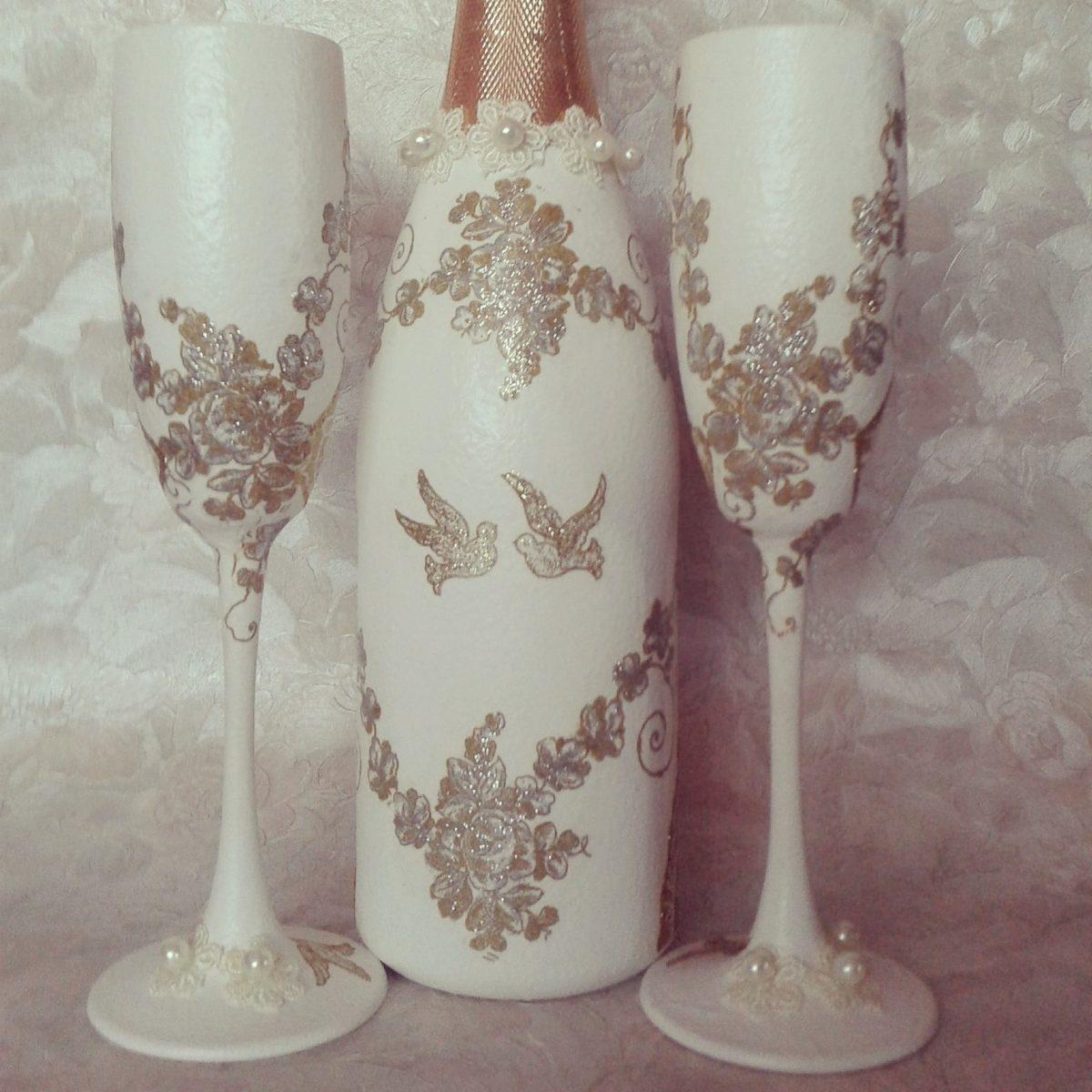 Mas copas para boda y botellas decoradas 3 - Decoracion de botellas ...