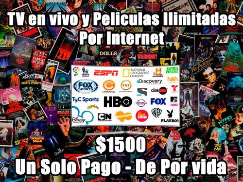 mas de 100 canales de tv y peliculas sin limites por 1 pago