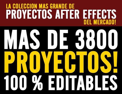 mas de 3800 proyectos after effects en 50 dvds