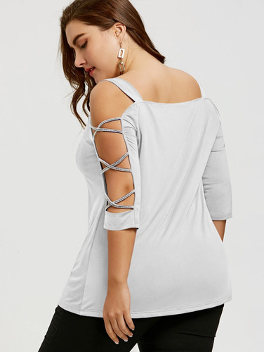 más tamaño t - camisa con fotografica cruz manga verano fr