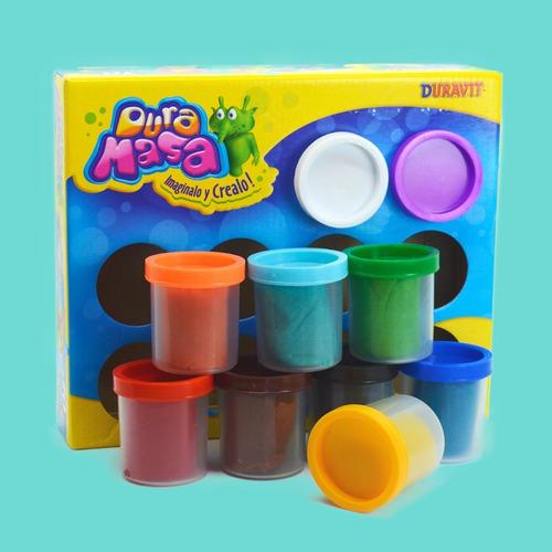 masa duravit x10 potes colores surtidos - juego infantil