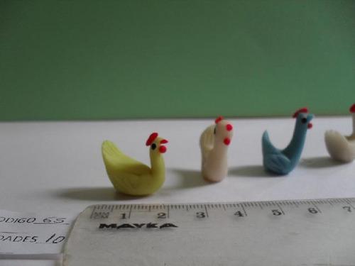 masa flexible patos- gallinas- gallos- para maquetas