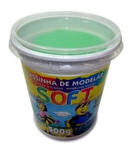 masa modelar soft | 500 g | acrilex | verde