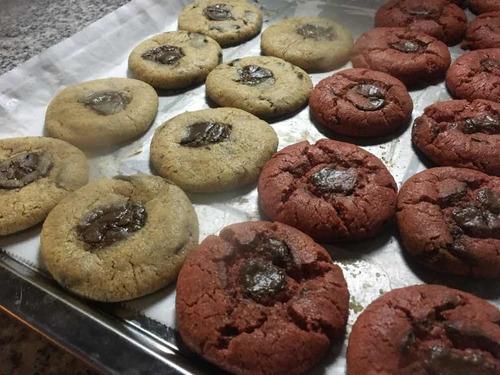 masa para galletas chocochips o redvelvet hornea en casa