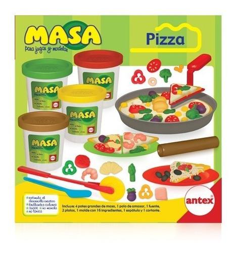masa pizza para jugar y modelar antex