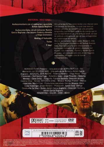 masacre esta noche ramiro y adrian garcia pelicula dvd