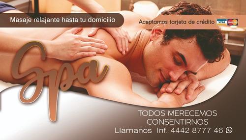 masaje de relajaciòn