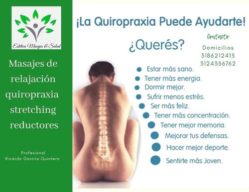 masaje de relajación quiropráxia y stretching