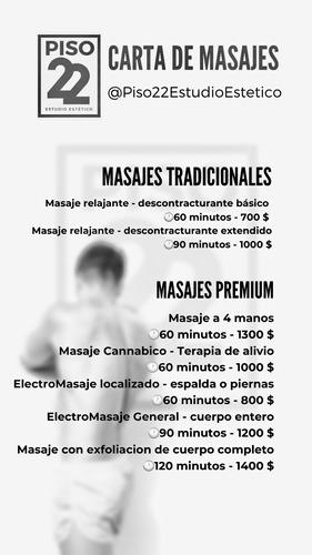 masaje descontracturante y relajante montevideo