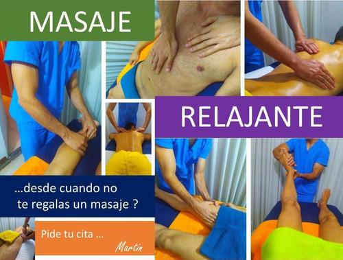 masaje relajante antiestres para caballeros