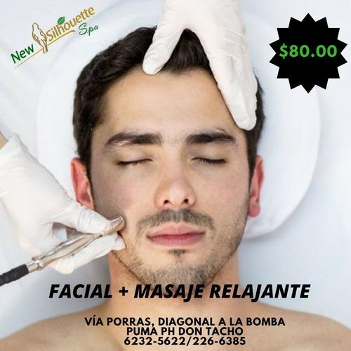 masaje relajante + facial