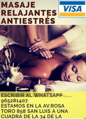 masaje relajante para dama & caballero en san luis