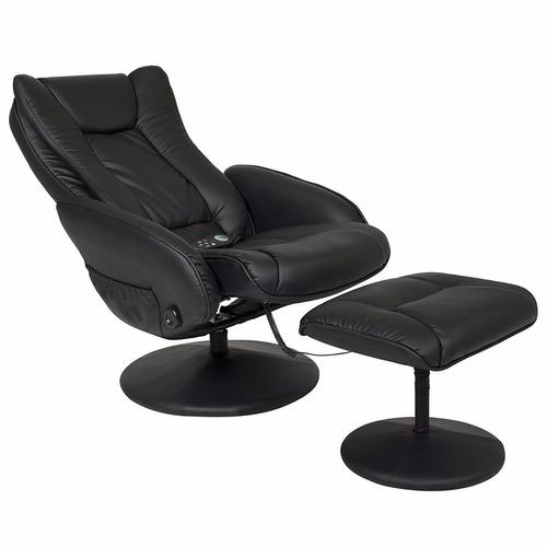 masaje sillón ejecutivo respaldo descansapies ottoman piel
