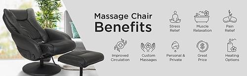 masaje sillon ejecutivo respaldo descansapies ottoman piel