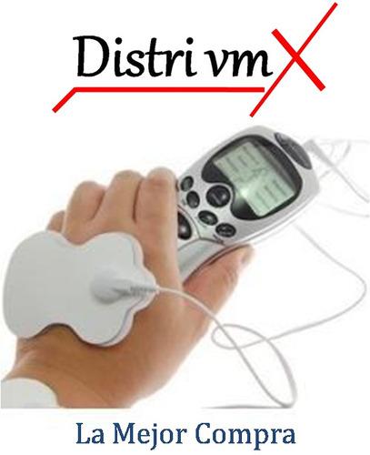 masajeador 8 electrodos estimulacion pasiva portatil