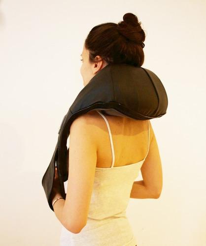 masajeador caliber multi rodillos 4d! cervical lumbar calor