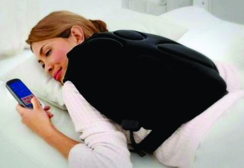 masajeador chaleco mochila espalda cuello c/calor vibracion