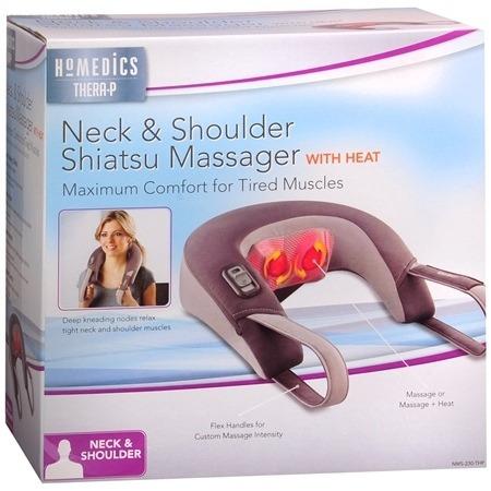 masajeador de cuello con calor - homedics