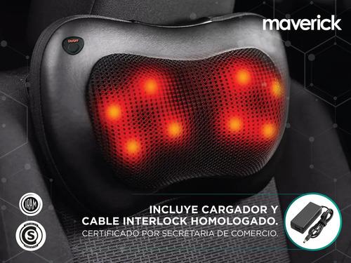 masajeador de cuello maverick 4 nodos 8 rodillos giratorios