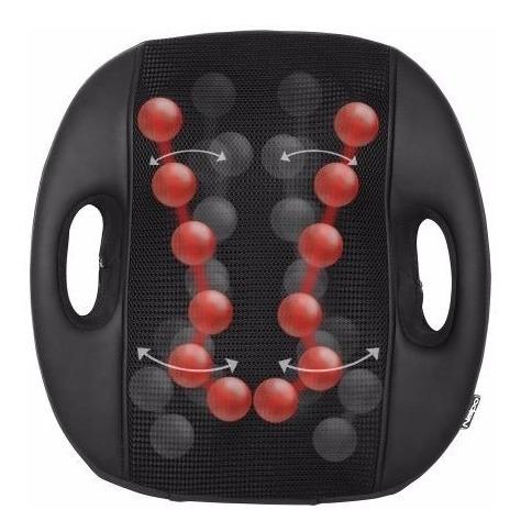 masajeador de espalda shiatsu con 3d naipo mgm-183