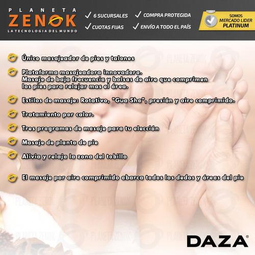 masajeador de pies y talon calor compresion de aire daza