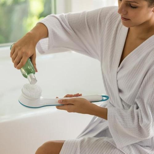 masajeador ducha spin spa 5 cabezas exfolia relaja resiste