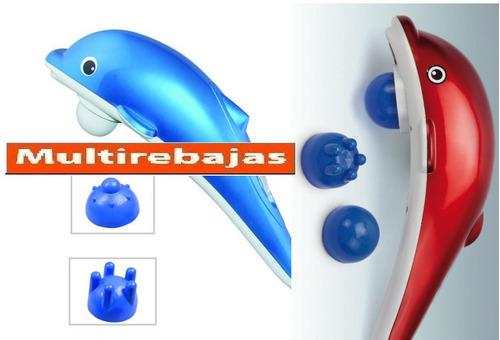 masajeador electrico antiestres delfin 3 cabezales