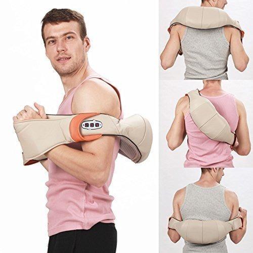masajeador eléctrico cuello hombro espalda calor shiatsu loi