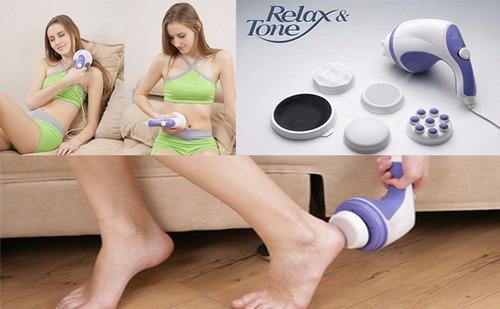 masajeador electrico relax 4en1 + maquina electroestimulador