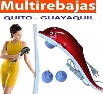 masajeador inflarojo delfín muscular fisioterapia + copas