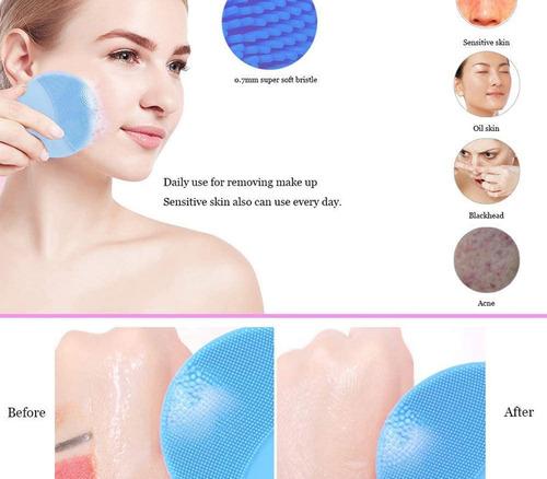 masajeador limpiador facial exfoliante recargable usb crazy