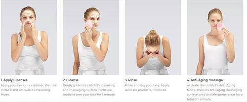 masajeador limpiador facial silicona limpia cutis mini usb