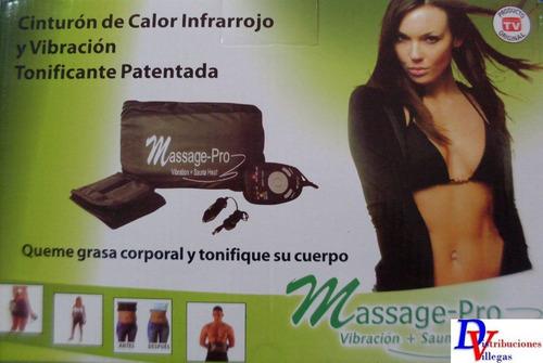 masajeador masaje pro faja térmica vibradora reductora