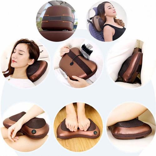 masajeador para auto o casa terapéutico tipo almohada