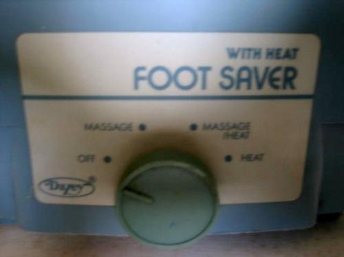 masajeador para pies.  marca dazey foot sarver