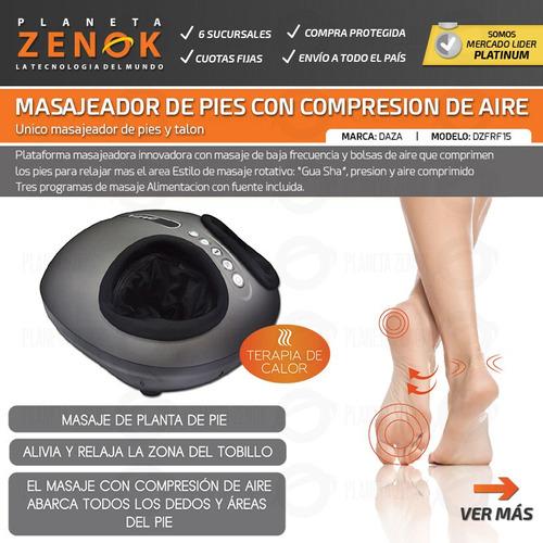 masajeador pies y talon calor compresion de aire daza
