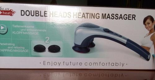 masajeador profesional potente, 2 cabezales infrarojo+4acces