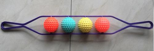 masajeador rascador de espalda piernas bolas plasti colores