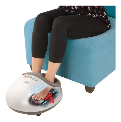 masajeador shiatsu con aire - pro pies  homedics fms-350h