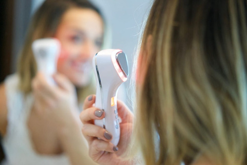 masajeador ultrasonico led alta gama portatil facial rostro