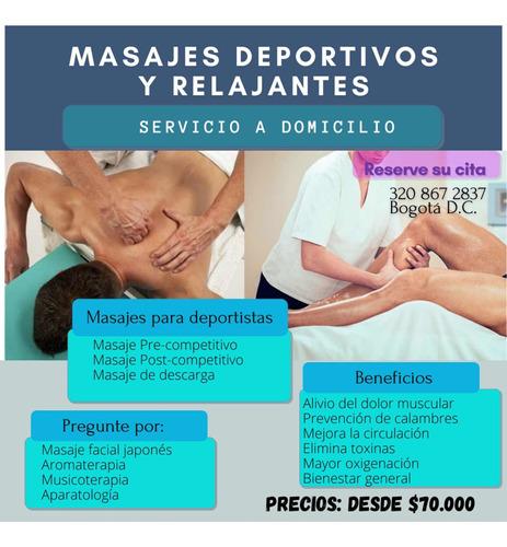 masajes a domicilio