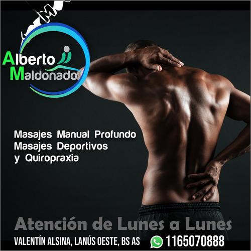 masajes deportivos y quiropraxia