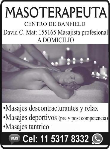 masajes descontracturantes relax a domicilio